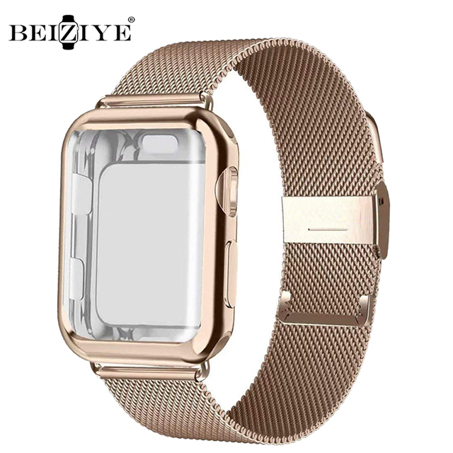Milanese Watch Band + Case For Apple Watch Series 6 SE 5 4 40mm 44mm 38mm 42mm Stainless Steel Strap Wrist Bracelet for iwatch 1