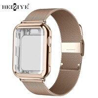 Milanese Uhr Band + Fall Für Apple Uhr Serie 6 SE 5 4 40mm 44mm 38mm 42mm Edelstahl Strap Handgelenk Armband für iwatch