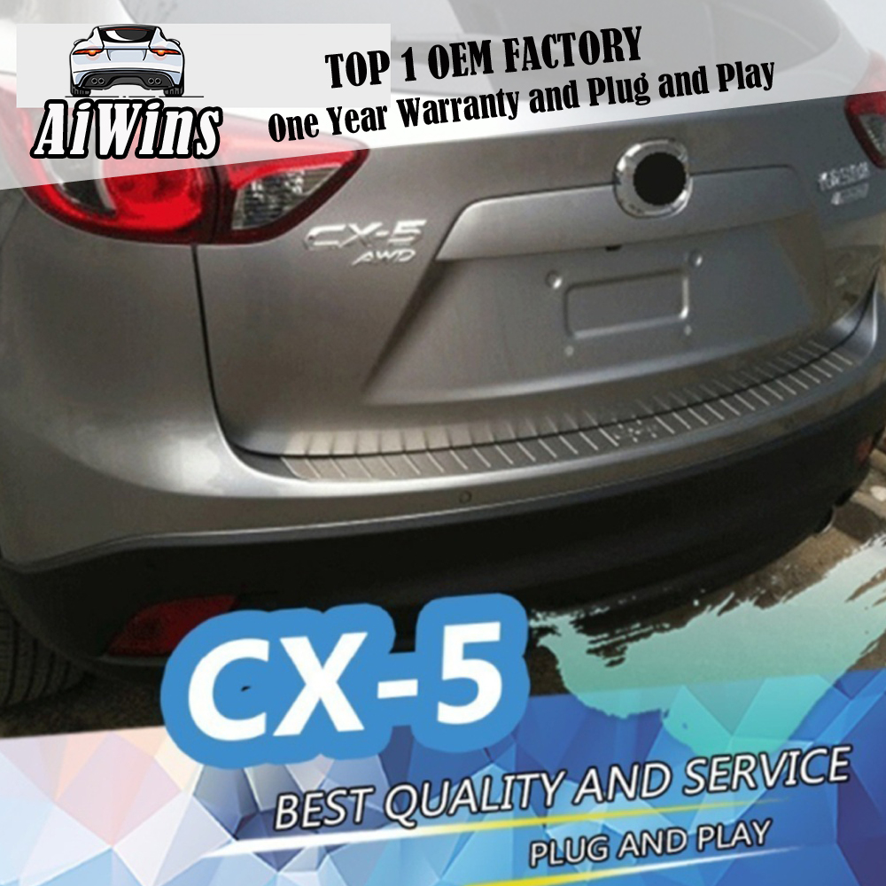 Car Inner Rear Bumper Protector Trim Cargo Sill Cover Plate For MAZDA CX-5 CX5