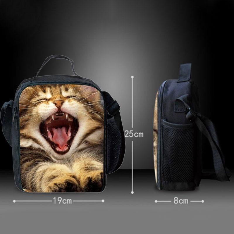 BEAU-портативные Изолированные сумки для обеда с принтом милых кошек для девочек, сумки для еды на плечо, сумки для еды, сумки для весеннего тура, сумки для еды и пикника