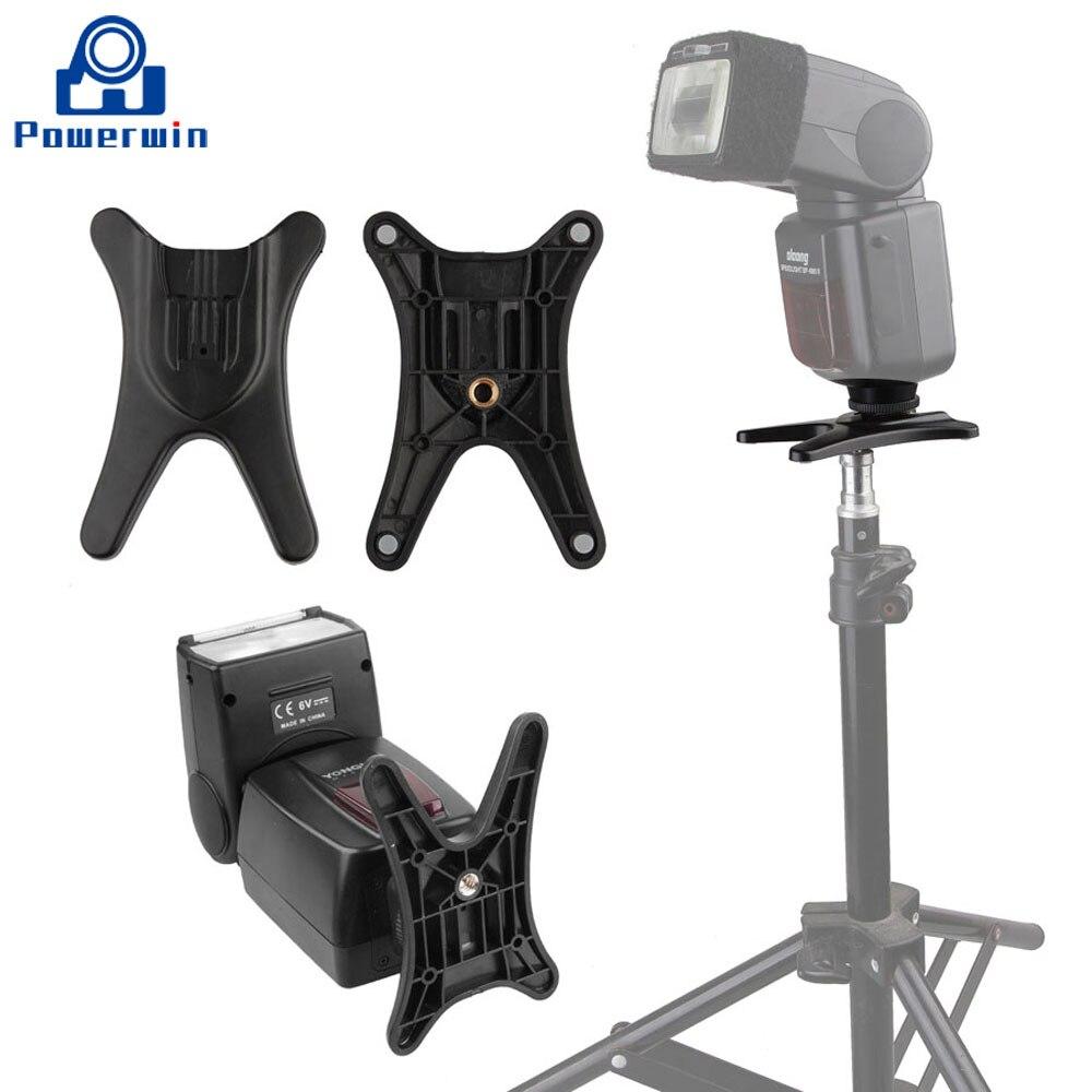 Powerwin Flash Hot Shoe Base Universal Stand Adapter Holder Mount Speedlight Speedlite For Canon/Nikon/Sony/Panasonic/Fuji