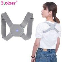 Novo corretor de postura inteligente com sensor inteligente lembrete de vibração ajustável volta cinta suporte postura treinador corrector