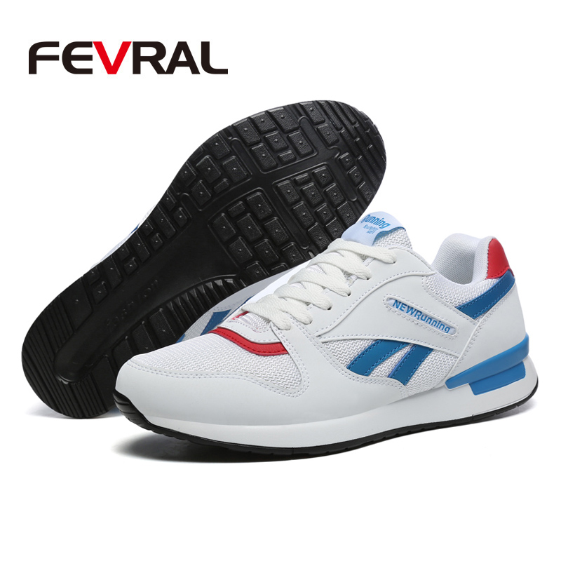 Image 3 - FEVRAL New Trend Big Size Running Shoes Men Sneakers Breathable Mesh Shoes Outdoor Couple Walking Casual Shoes Men Sport ShoesMens Casual Shoes   -