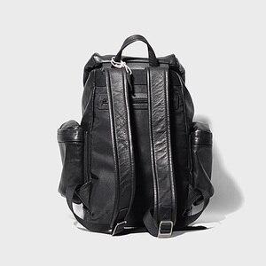 Image 3 - AETOO رئيس الجلود على ظهره ، والجلود ثنائية حقيبة ظهر تحمل على الكتف ، والجلود الذكور حقيبة السفر