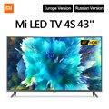 Умный Телевизор Xiaomi tv 4S, 43 дюйма, 4K, 2G + 8G, поддержка хранения, miracast, DVB-T2 + C/DVB-S2, intellgent, светодиодный телевизор