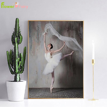 Ballet Dancing Girl Nordic Poster Wall Art Canvas Painting Modern Art Posters And Prints Wall Pictures For Living Room Unframed цена и фото