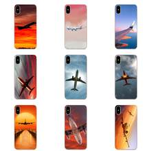 Back Cases Shockproof Clouds Sky Aircraft Colorful Air Plane For Xiaomi Redmi Note 8 8A 8T 10 K30 5G(China)