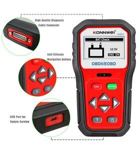 Image 5 - KONNWEI KW818 escáner de diagnóstico de coche OBDII ODB2, probador de batería de 12V, herramienta para comprobar el motor del lector de código automotriz
