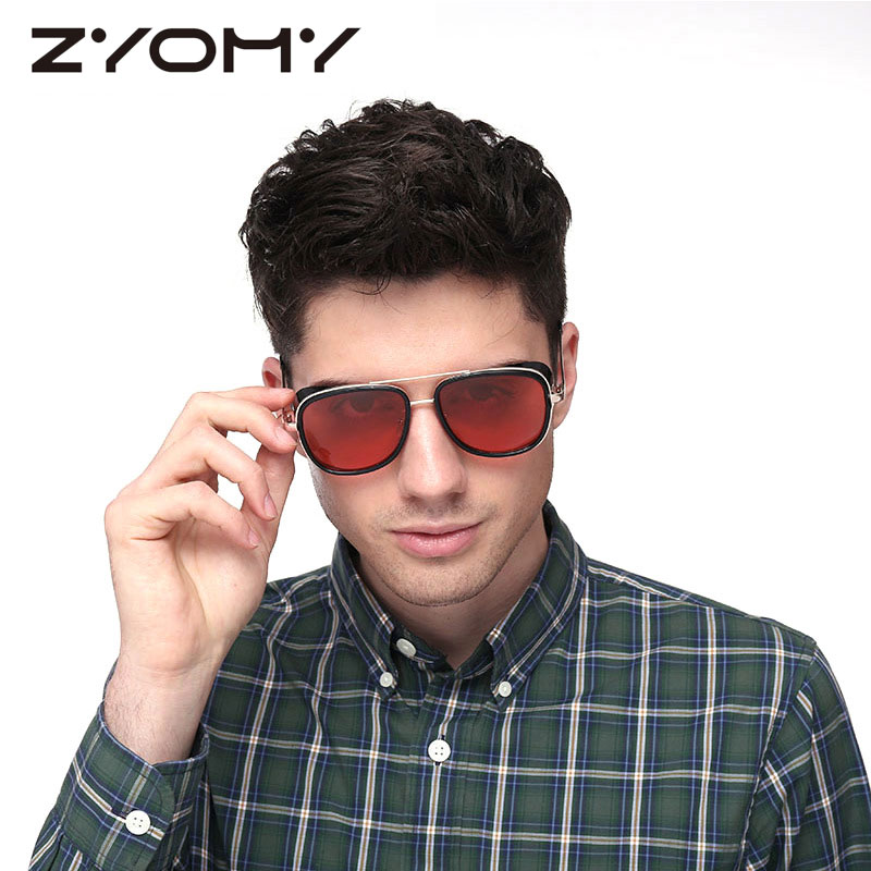 2020 Zyomy Mature Men's Sunglasses Spiral Texture Frame Sunglasses For Men Oval Design Sun Glasses Oculos De Sol UV400