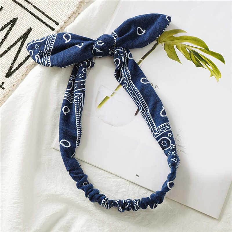 여성 스위트 헤어 밴드 프린트 헤드 밴드 레트로 헤어 액세서리 크로스 터번 붕대 Bandanas Hairband Headwrap Summer Headwear