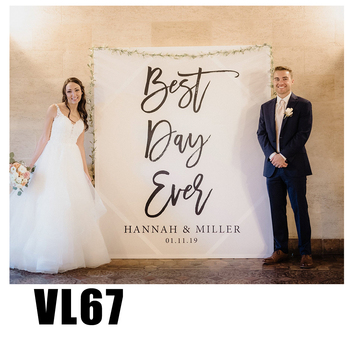 wedding photo backdrop customize bridal banner background party supplies photo props VL67