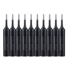10Pcs/Lot Black Metal 900M-T-1C Soldering Iron Tip Lead-free Solder Tips For Hakko 936/852D Rework Welding Tool