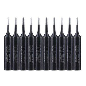 10Pcs/Lot Black Metal 900M-T-1C Soldering Iron Tip Lead-free Solder Tips For Hakko 936/852D Rework Welding Tool
