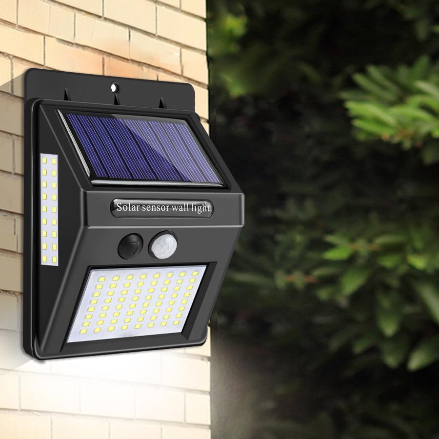 20/40/100 LEDs Outdoor LED Solar Licht Lampe Mit PIR Motion Sensor luz Solar Garten Licht Straße zaun Wand Lampe Weihnachten Deco