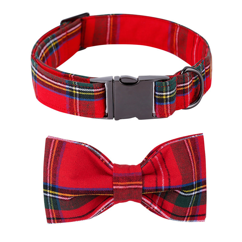 Unique Style Paws Christmas Adjustable Handmade Bowtie Dog and Cat Collar Pet Gift for Dogs and Cats|Collars| - AliExpress