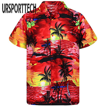 Men Shirt Summer Casual Slim Fit Short Sleeve Hawaii Shirt Quick Dry Printed Beach Shirt Male Top Blouse Hawaiian Shirt Men 2020 men shirt summer new casual slim fit short sleeve hawaii shirt quick dry printed beach shirt male top blouse hawaiian shirt men
