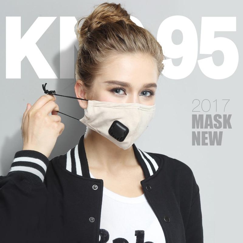 PM2.5 Anti-Virus Breathing Valve Mask Anti-fog Dust Pollution KN95 Filter Paper Element Breathing Valve Mouth Mask Respirator