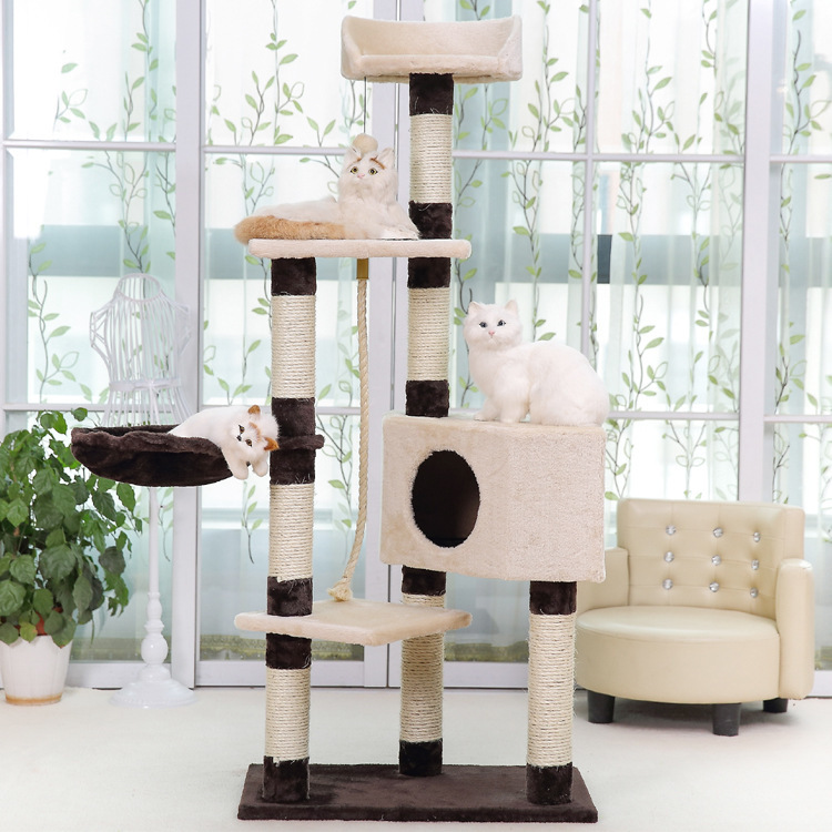 Elly Pet With Large Cat Climbing Frame Cat Tree Cat Teaser Toy Play With Cat Taiwan Sisal Structure Pet Toy Cat Climbing Frame