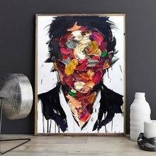 Картина на холсте граффити абстрактные постеры и принты настенные