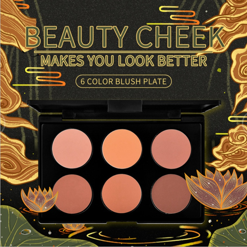 Beauty Cheek Makes You Look Better 6 Color Blush Plate