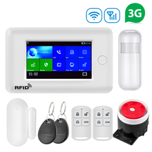 Fuers GSM 3G 2G 433MHz 4.3 Inch Touch Color Screen Wireless WIFI GPRS RFID APP Remote Control Smart Home Security Alarm System