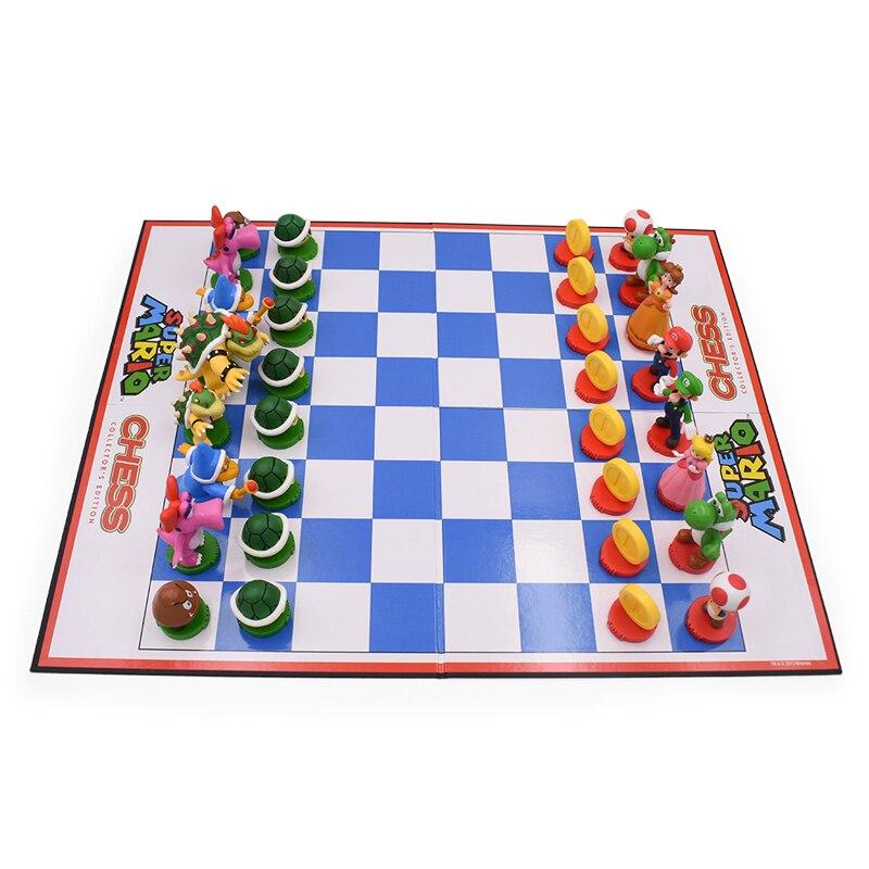 32Pcs/Set Super Mario Bros PVC Action Figures Toys Yoshi Peach Princess Luigi Shy Guy Odyssey Donkey Kong Chess Game Doll