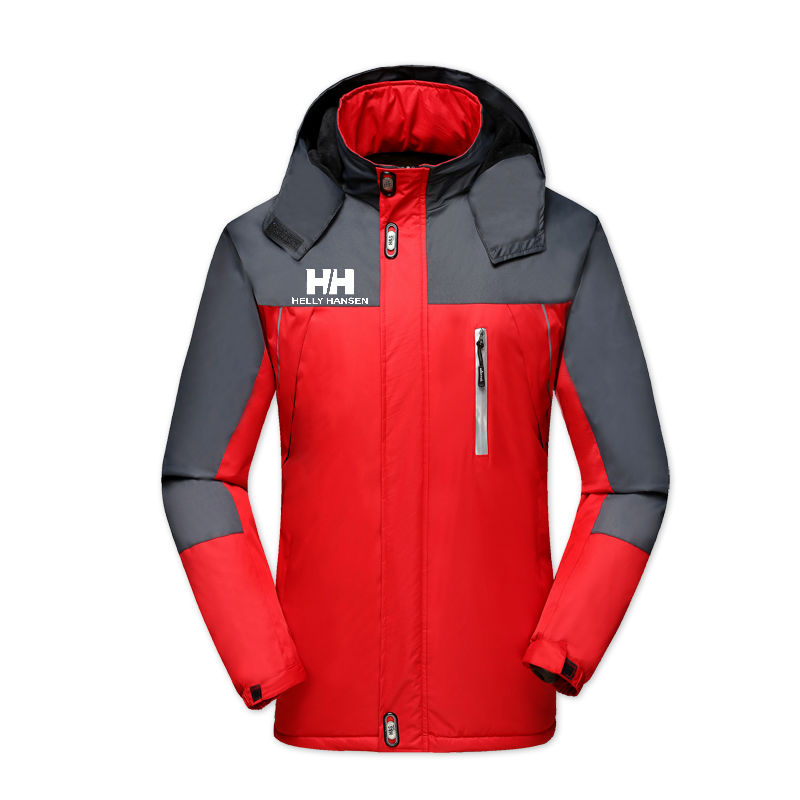 Men's Jackets Waterproof Spring Helly Han Printed Hooded Coats Men Women Outerwear Helly Solid Casual Brand Male Clothi