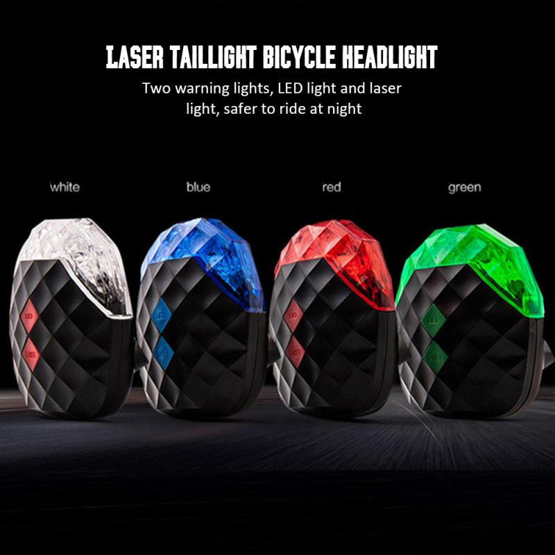 Mountain Bike Light 5 LED Waterproof Warning Lights Night Cycling Lights Safety Taillights 7 Modes Bike Lights Bike Accessories