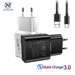 Image 1 - USB C do Samsung S8 S9 plus oryginalna szybka ładowarka 1.2 m USB typ C Kabel Travel Adapter ue/usa Note8 S9 S8 C5 c7 C9 pro urządzenia