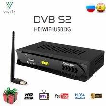 Hot Sale Europe DVB-S2 Digital TV Tuner Fully HD 1080P Satellite TV