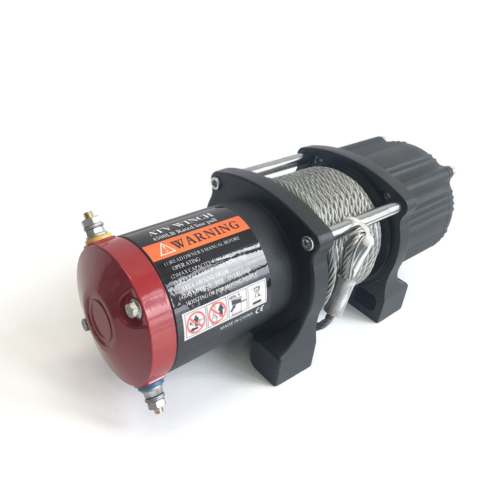 12v 4500lb  Electric Winch Remote Control Set Heavy Duty ATV Trailer High Strength Steel Electric Winch