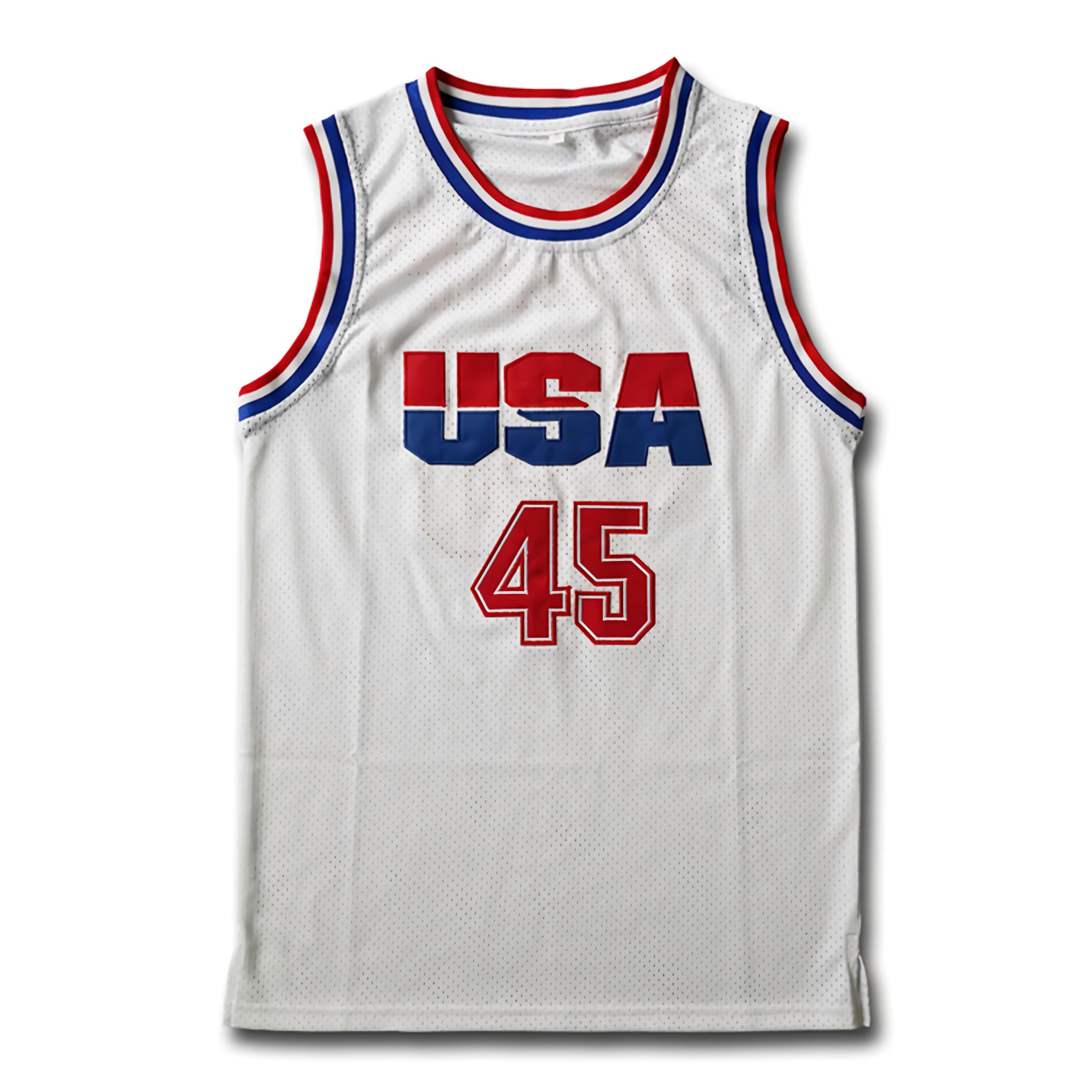 45# 2016 Commemorative Edition USA Basketball Jersey White S-3XL
