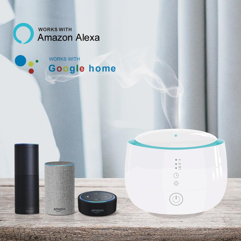 Wifi Wireless Aroma Essential Oil Diffuser 300ml Humidifier Tuya/Smart Life APP Compatible With Amazon Alexa Google Home