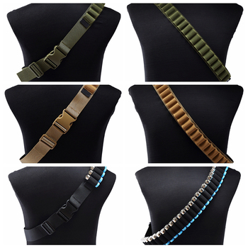 27 Rounds Hunting Bullet Ammo Tactical Military Airsoft Shotgun Shell Bandolier 12 Gauge Belt molle pouch hunting accessories 3