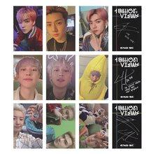 3/9 pces kpop exo sc sehun chanyeol 1st álbum 1 bilhão de visualizações photocard oficial auto feito cartões lomo para o presente dos fãs
