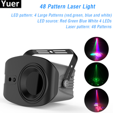 60+4 Patterns RG Laser Projector Light Disco DJ Lights RGB Party Lighting for Stage Decoration with Sound Activated Par