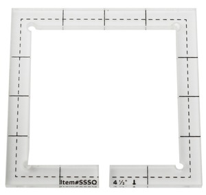 Image 4 - For straight edge or stitching in the ditch foot #SSSQ 3mm#SSSQ 5.8mm Acrylic Patchwork Quilting Template Ruler Square Longarm