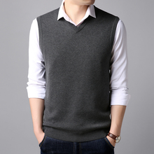 Cardigan vest spring mens fashion V-neck sleeveless knit sweater s large size S-XXXL boutique casual