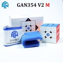 Gan354 v2 m magnético 3x3x3 velocidade cubo 54mm stickerless 3x3 cubo mágico quebra-cabeça gan 354 m 3x3 cubo mágico crianças brinquedos para crianças