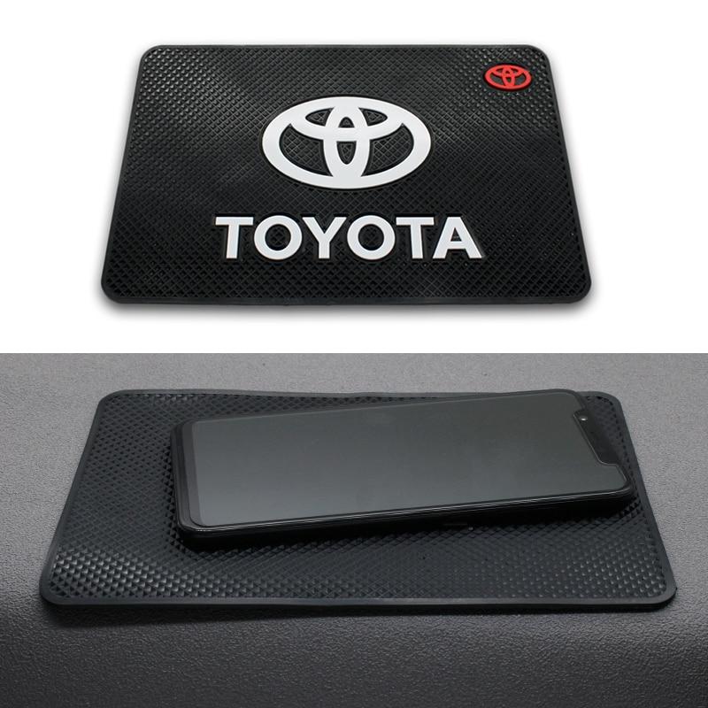 Car Anti Slip Mat Auto Interior Dashboard Phone Gel Pads Fixed Gel Double Sided For Toyota Chr Corolla Auris Avensis Yaris Rav4
