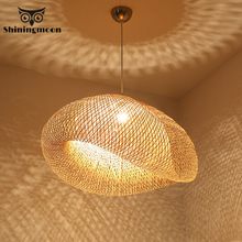 Chinese Classical Bamboo Lamp Pendant Lights Modern Restaurant Hotel Rattan Pendant Lamp for Living Room Kitchen Hanging Lamps free shipping modern bamboo work hand knitted bamboo pendant lamp good price pendant lamp with bamboo shades for dinning room
