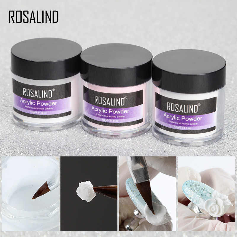 Rosalind Acryl Poeder Poly Gel Voor Nagellak Nail Art Decorations Crystal Manicure Set Kit Professional Nail Accesorios