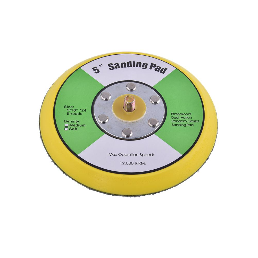 5 Inches Pneumatic Grinder Polishing Plate Disk Grinding Machine Chassis Polishing Sandpaper Adhesive Disc Polish Pad Plate