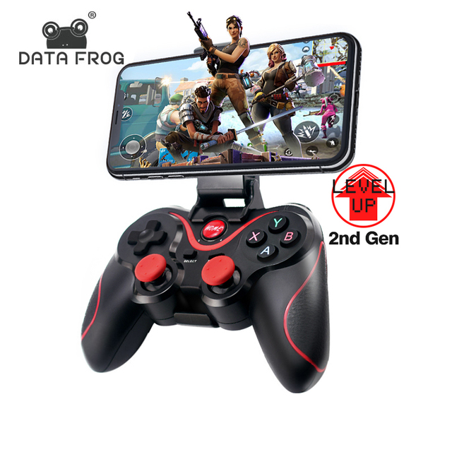 DATA FROG Bluetooth Wireless Gamepad Game Controller For PS3 TV PC Laptop Joystick 1