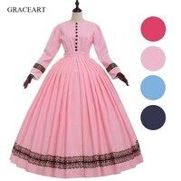 1860s Dress Civil War Vintage Victorian Ball Gown Costume