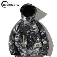 2020 Winter Camouflage 90% White Duck Down Jacket Men Hooded