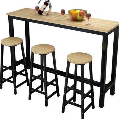 Wall Bar Table Milk Tea Shop High Foot Table Chair Household Simple Modern Small Bar Long Table Long Table Business