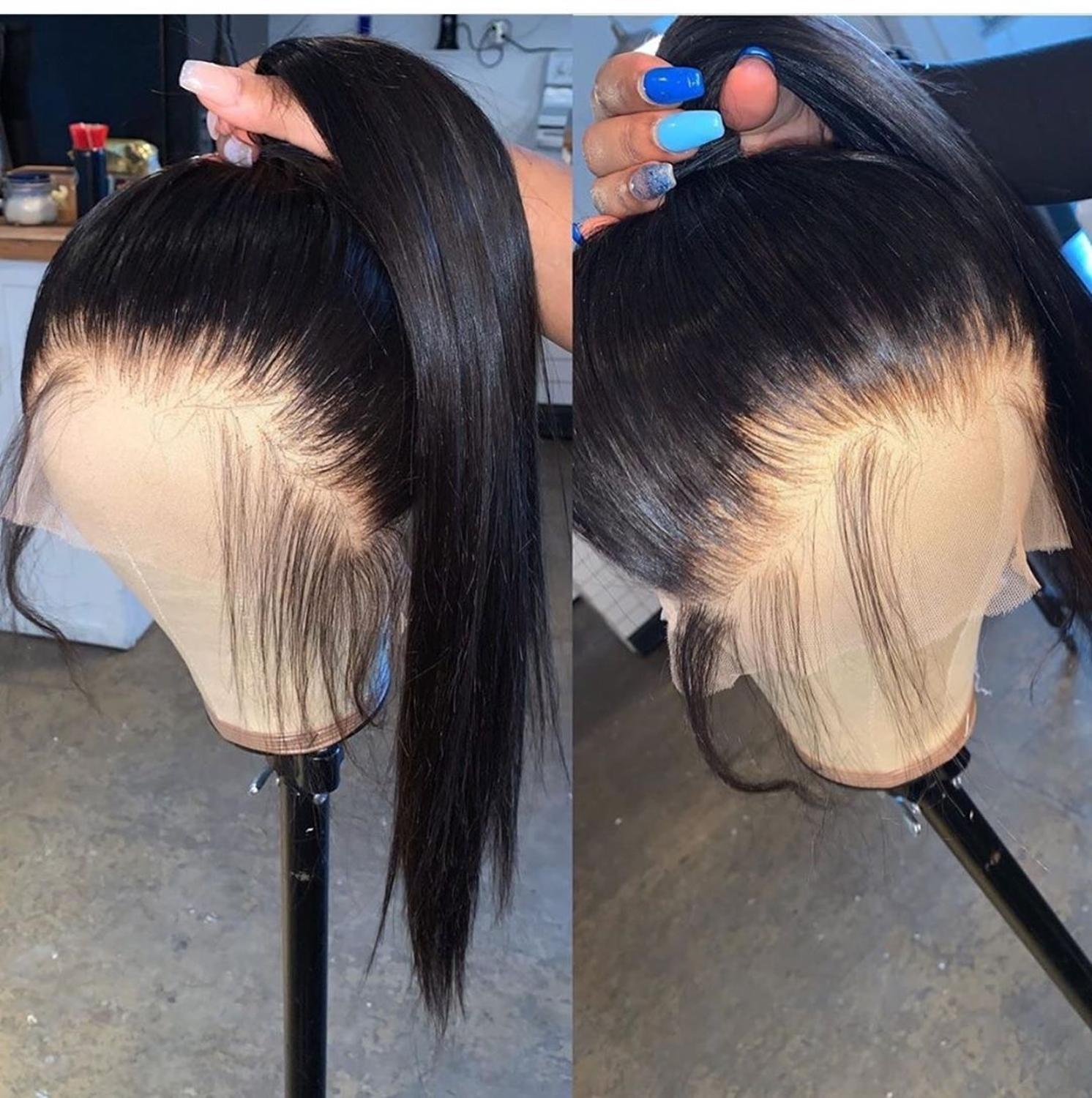 13x6 Lace Front Human Hair Wigs Pre Plucked With Baby Hair Deep Part Brazilian Remy Lace Front Wigs Can Be Dyed Fast Shipping