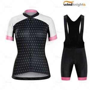 Vêtements de cyclisme été femmes vêtements de vélo maillot de cyclisme VTT filles course femmes bavoir pantalon court Bontrager 19D GEL