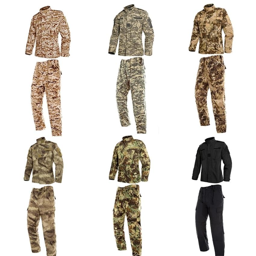 9Color Men Army Military Uniform Tactical Special Forces Combat Camouflage Us Militar Soldier Clothes Pant Set for Mans Uniforms